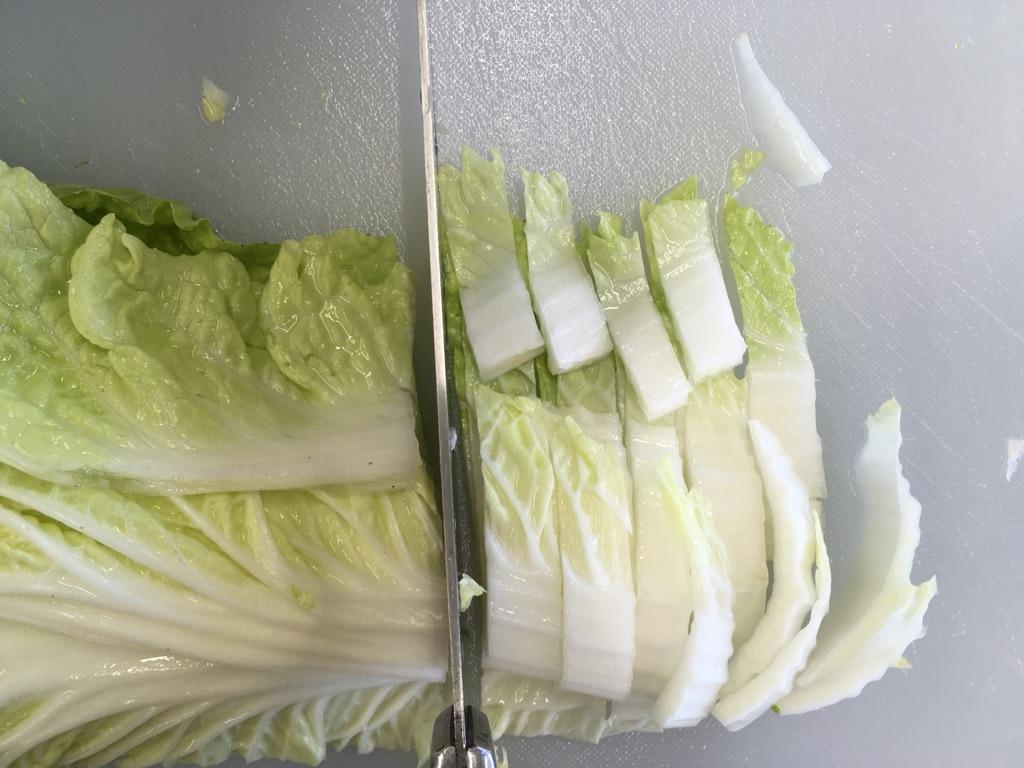 白菜のごまマヨ和え:手順0