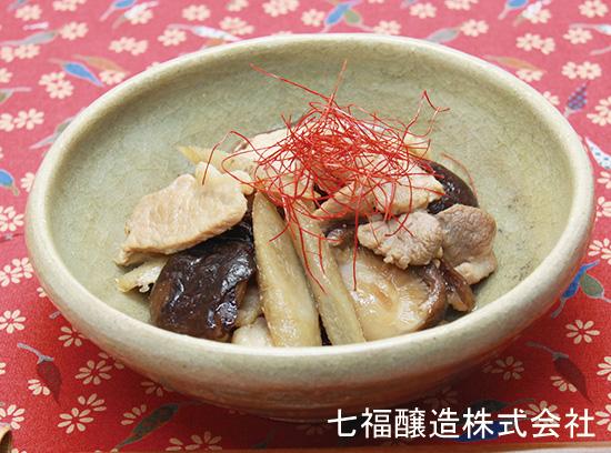 煮物だしで作る|干し椎茸と豚肉の炒め煮