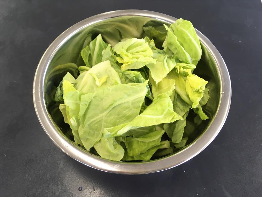 春キャベツと玉子のとろみ炒め:手順0