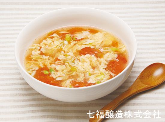 トマトと玉子の白だしスープ