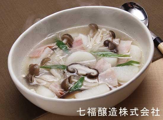 長芋ときのこのスープ