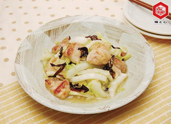 白菜と鶏肉きくらげの生姜炒め