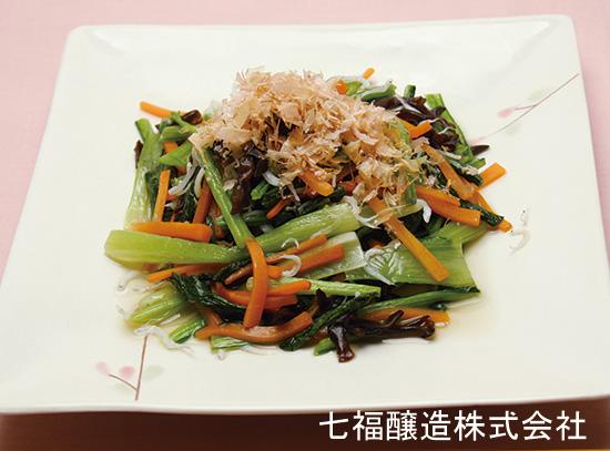 小松菜とじゃこのサッと炒め