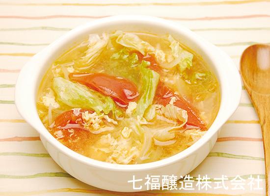トマトとレタスの玉子スープ