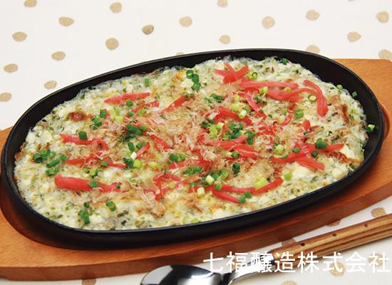 豆腐とツナのとろろ焼き