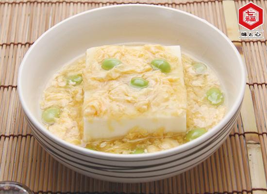 玉子と枝豆のあんかけ豆腐