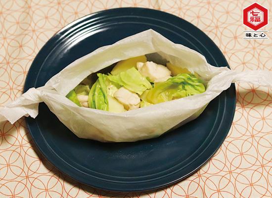 春野菜とささみの包み蒸し