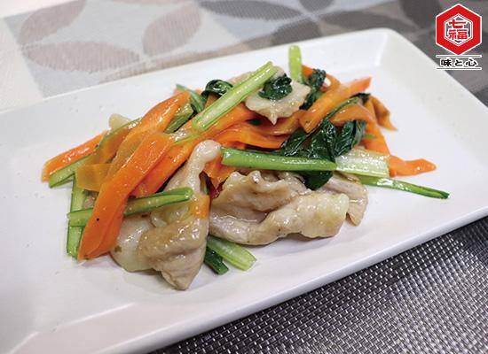 豚肉と野菜のドレッシング炒め