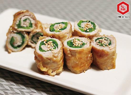 小松菜の肉巻き