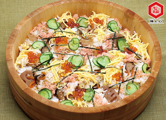 鮭フレークを使った┃秋のごちそうちらし寿司