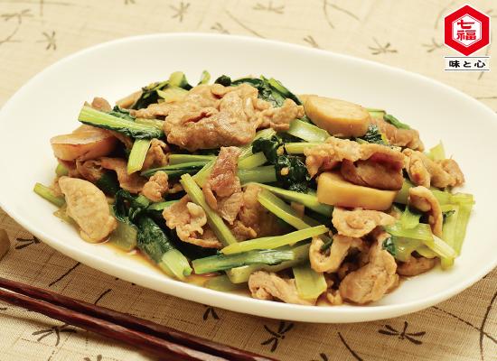 小松菜とエリンギのオイスター炒め