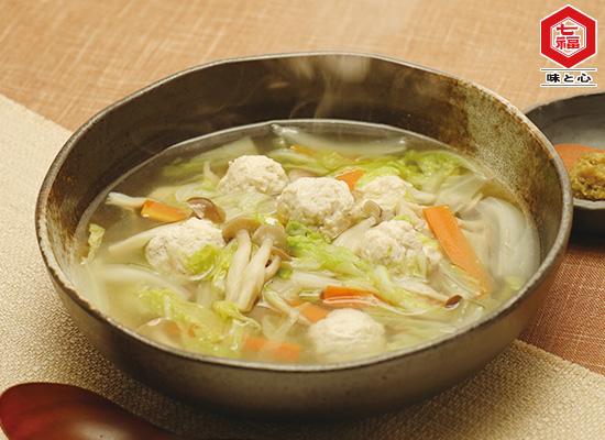 白菜と鶏団子のスープ