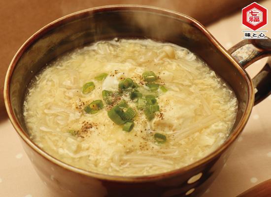 くずし豆腐と卵の生姜スープ