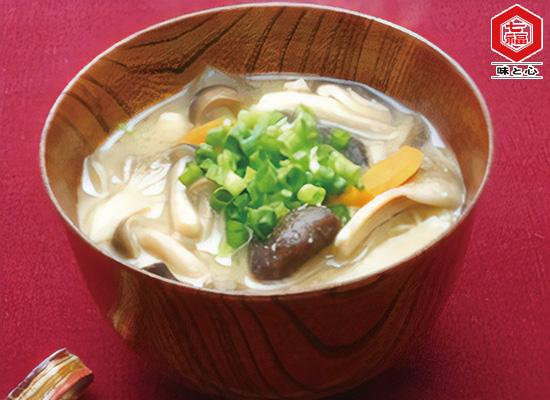 きのこと根菜のお味噌汁~白だし味~
