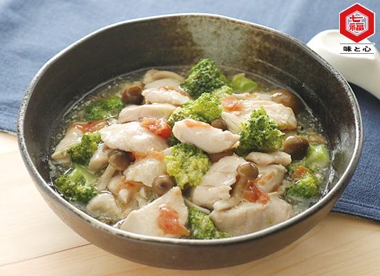 鶏むね肉とブロッコリーの梅あんかけ