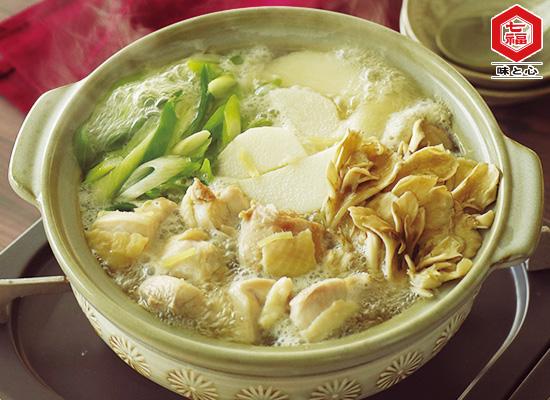 鶏肉と長芋の白だし鍋