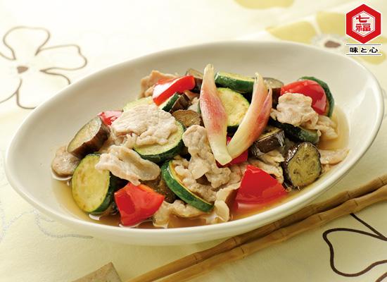 豚肉と夏野菜の焼き浸し