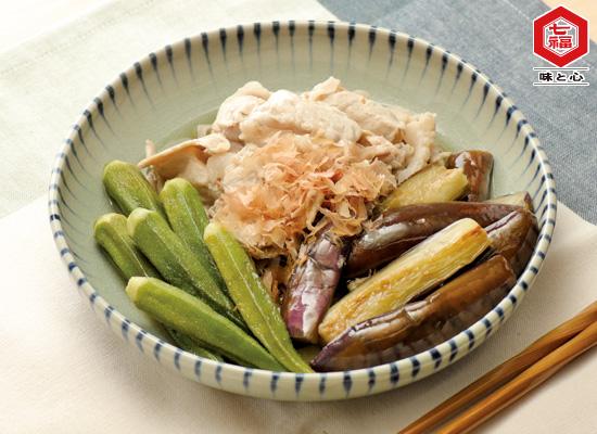 夏野菜と豚肉のさっぱり浸し