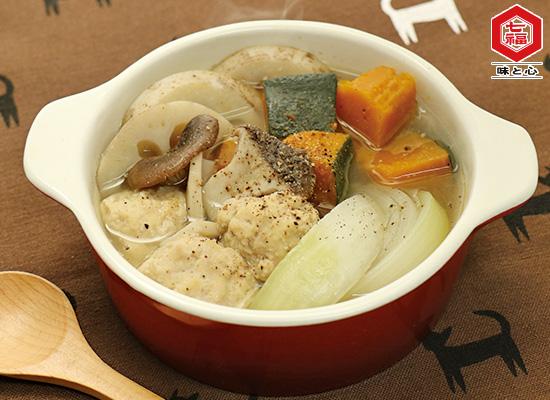 鶏団子と秋野菜の和風ポトフ