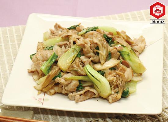豚肉とチンゲン菜の炒め物